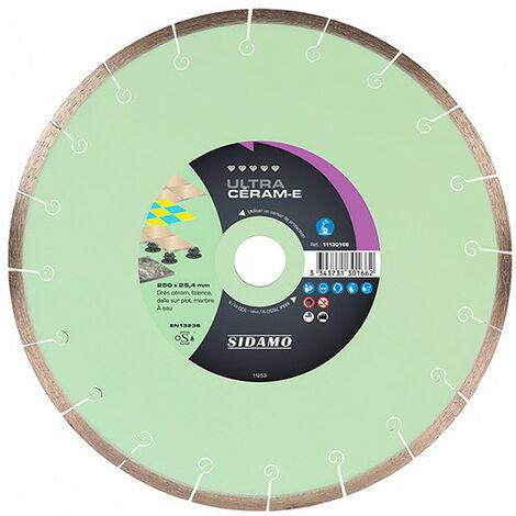 Disque diamant ULTRA CERAM-E D. 250 x 25,4 x h 8 mm - Grès céram, faïence, marbre
