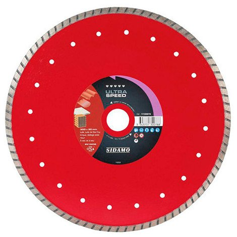 Disque diamant ULTRA SPEED D. 300 x 30-25,4 x H 8,5 mm Tuile / Brique - 11130078 - Sidamo - -