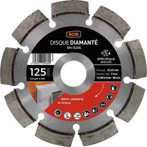 Disque diamanté à déjointoyer Diamètre 125 mm - SCID