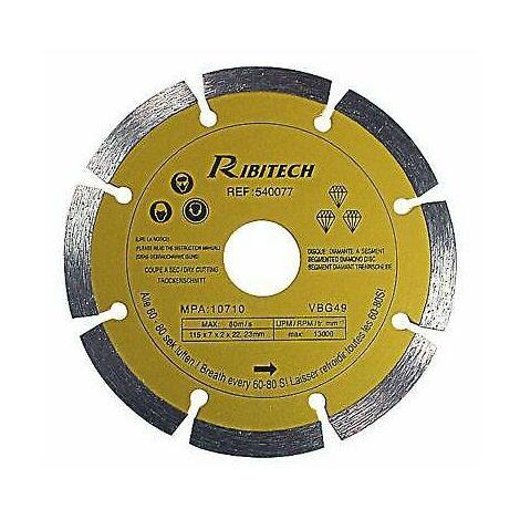 Disque Diamanté à Segment Gamme Pro - 125/A OU 230/A ou 115/A