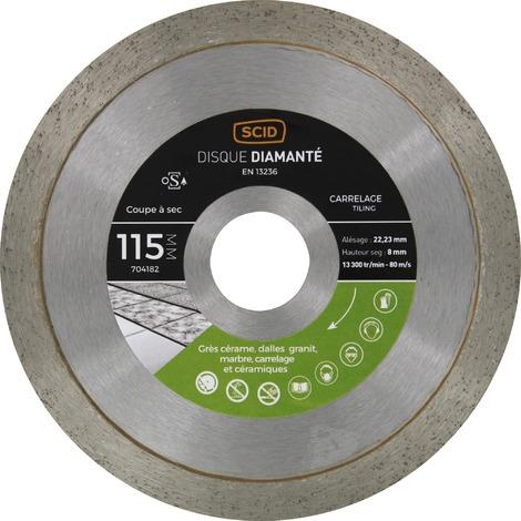 Disque diamanté carreleur professionnel SCID - Diamètre 115 mm