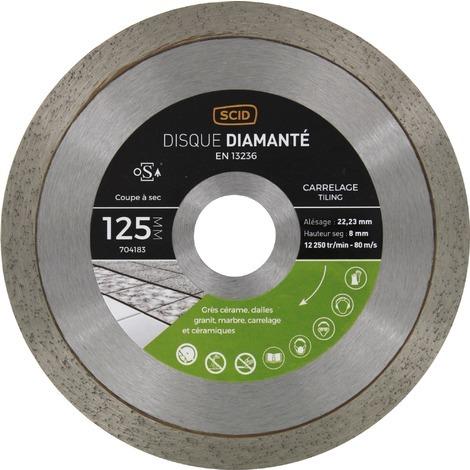 Disque diamanté carreleur professionnel SCID - Diamètre 125 mm