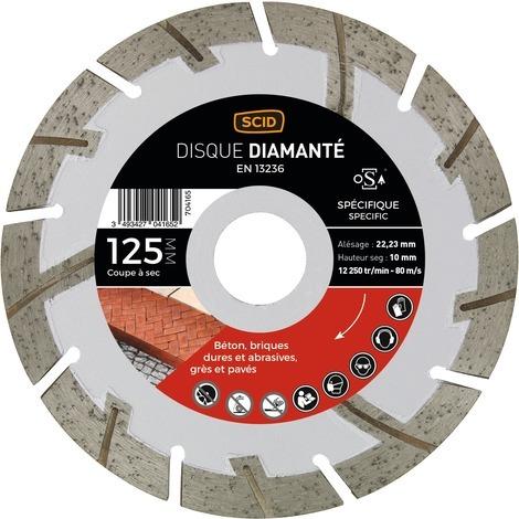Disque diamanté matériaux durs et abrasifs SCID