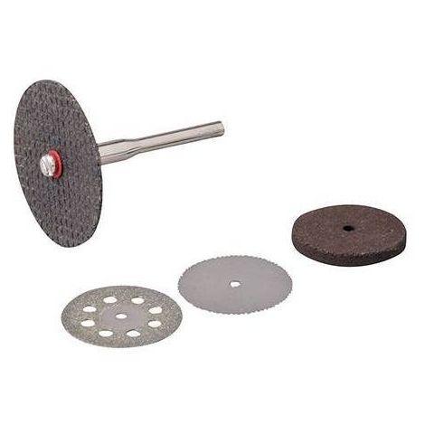 Ensemble 7 pièces de disques à polir en caoutchouc DESTOCKAGE Ø 22 mm