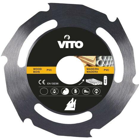 Disque Multi matériaux 230mm VITO Bois et PVC Alésage 22.5mm