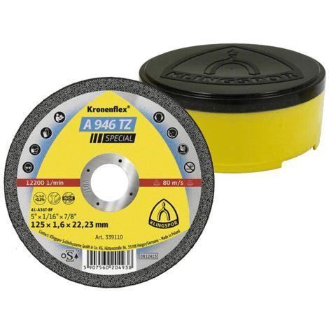 Disque plat Klingspor pour tronçonner l'inox dia 125x1.6x22.2 mm