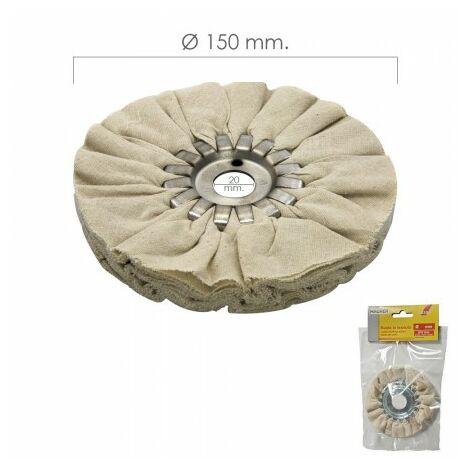 Disque polisseur tissu pour broyeur / ponceuse Ø 150 mm.