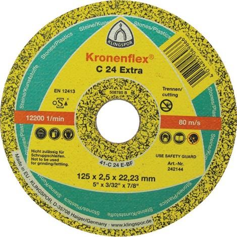 Disque pour meuleuse a tronconner C24 Extra 180x3,0mm Klingspor