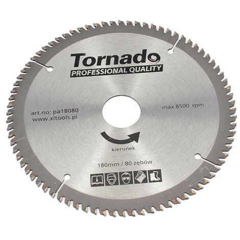Disque scie circulaire 180 mm d'aluminium, 80 dents