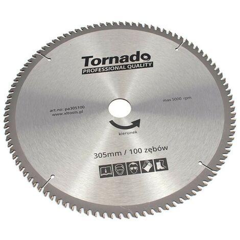 Disque scie circulaire 305mm aluminium, les dents 100