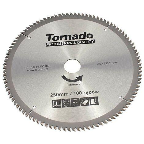 Disque scie circulaire aluminium 250 mm, 100 dents