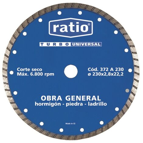 DISQUE TURBO UNIVERSEL 230 MM. RAPPORT