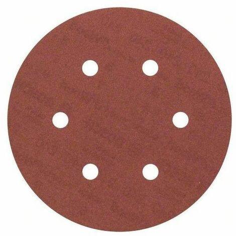 Disque velcro DSV diamètre 150mm, grain de 120, 8+1 trous, 5 pièces