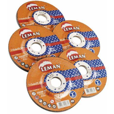 Disques à meuler diam 115MM 5 pièces Ø 115 mm