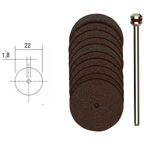 Disques à tronçonner en corindon Ø 22 mm « PROXXON »