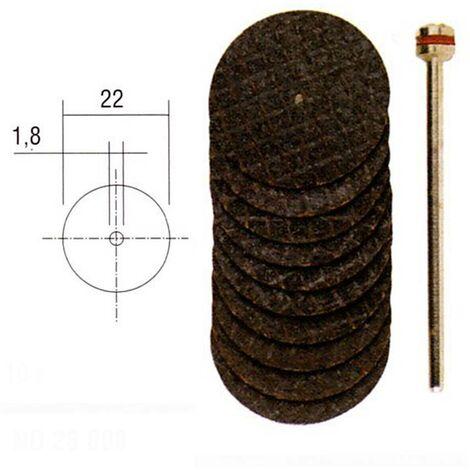 Disques à tronçonner en oxyde d'aluminium - Ø 22 mm >