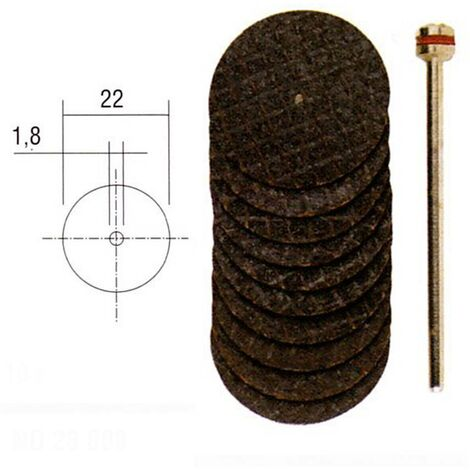 Disques à tronçonner en oxyde d'aluminium - Ø 22 mm « PROXXON »