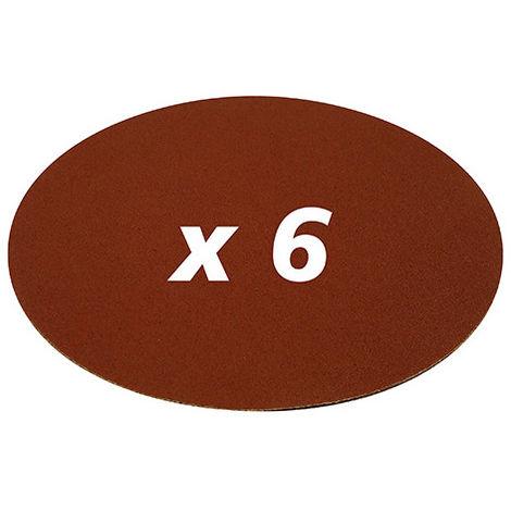 Disques abrasifs auto-agrippants D. 150 mm Grain 2x40, 2x80 et 2x120 - Lot de 6 - -