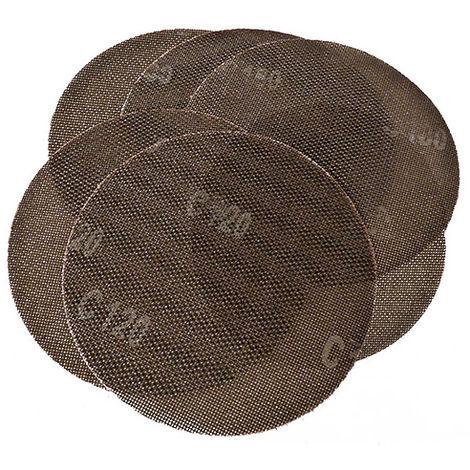 Disques abrasifs auto-agrippants D. 225 mm Grain 2x80, 2x120, 2x180 - Lot de 6 - -