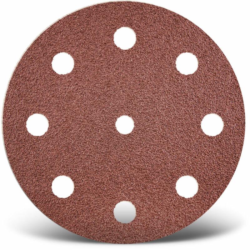 125 mm 8 trous grain 40 MENZER Disques abrasifs auto-agrippants pour ponceuses excentriques Lot de 50