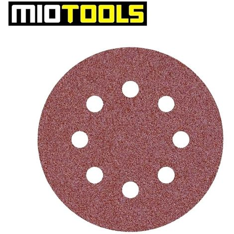 Wolfcraft 1152100 Disques abrasifs auto-agrippants Diam/ètre 125 mm Grain 80 Lot de 25