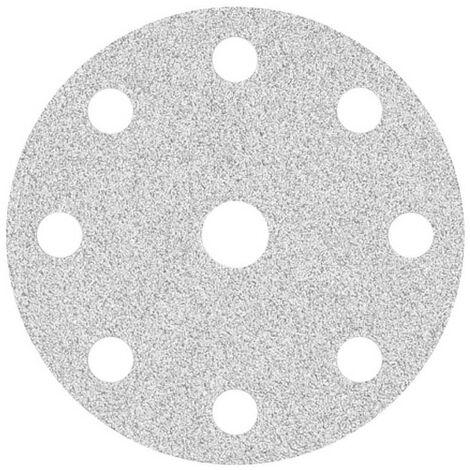 50 Disques abrasifs auto-agrippants MioTools pour ponceuse excentrique grain 240-17 trous /Ø 150 mm