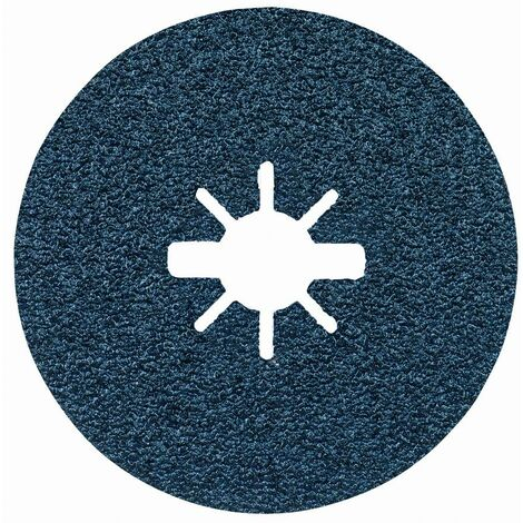 Disques abrasifs en fibre BOSCH BestforMetal X-LOCK - Grain 24 - Ø 125mm - 2608619159