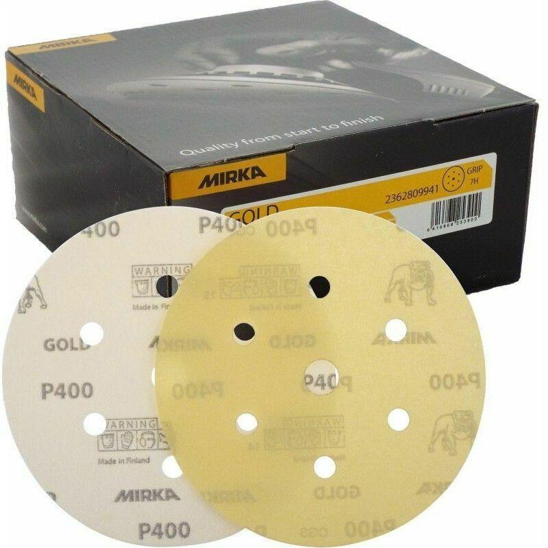 FERM Jeu de 10 Disques dabrasive 150 mm P60//P100//P150