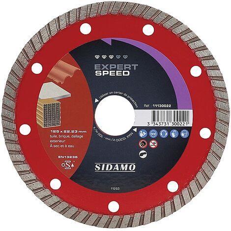 Disques diamants Expert Speed diamètre 125 mm, épaisseur 2 mm, alésage 22,2 mm