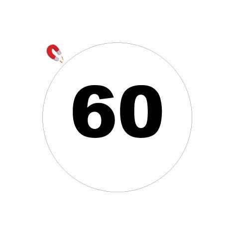 Disques limitation de vitesse 60 - Ø 200mm Magnétique – Novap