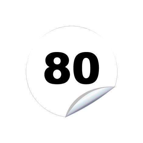 Disques limitation de vitesse 80 - Ø 200mm Adhésif – Novap