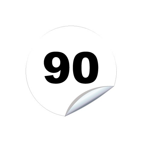 Disques limitation de vitesse 90 - Ø 200mm Adhésif – Novap