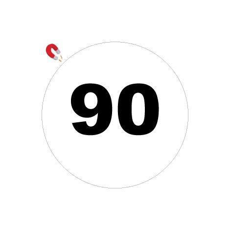 Disques limitation de vitesse 90 - Ø 200mm Magnétique – Novap