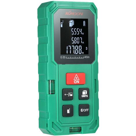 Distance Laser KKmoon 40m portatif metre numerique High Range Precision Finder Volume Surface Longueur 20 Mesure de stockage de donnees du groupe avec VTN LCD