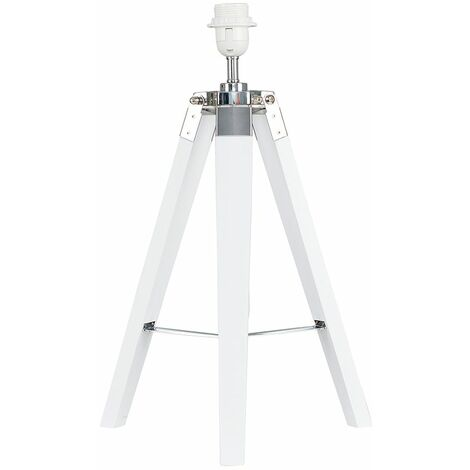 Distressed Tripod Table Lamp Base - White - White