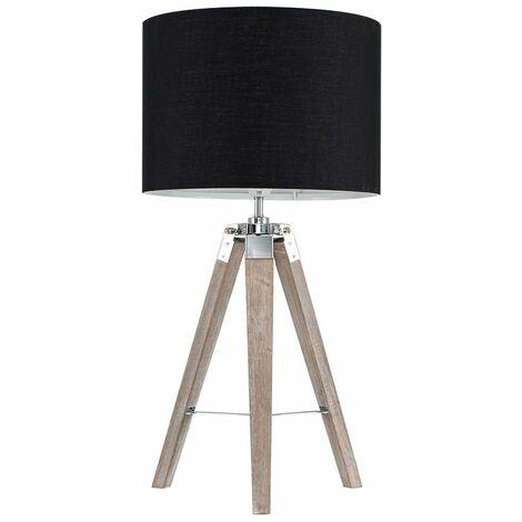 Distressed Tripod Table Lamp - Beige - Brown