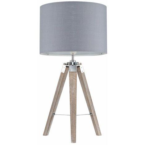 Distressed Tripod Table Lamp - Black - Brown