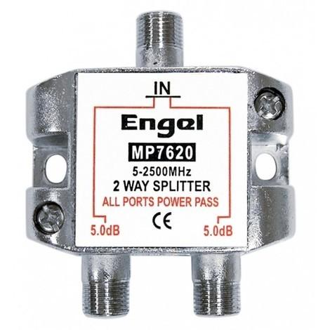 Distribuidor antena coaxial 1 ent/2 sal 5db axil