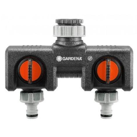 Distribuidor riego doble gardena pp para 2 aparatos 8193-20