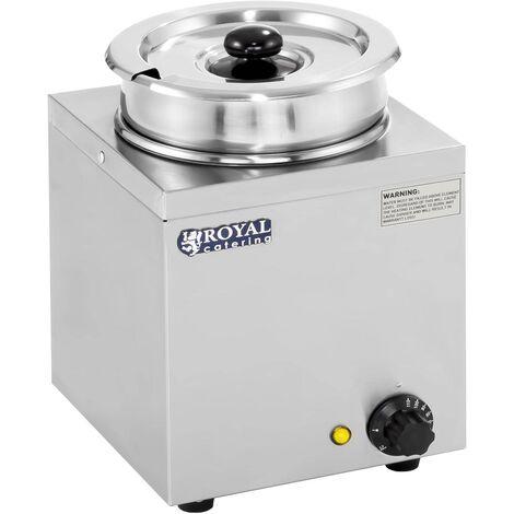 Distributeur A Soupe Bain Marie Inox Chauffe-Soupe 30 - 110 °C 1 Recipient