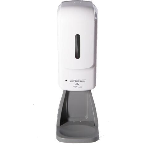 Distributeur automatique de gel hydroalcoolique, savon et mousse Grande capacité multifonction mural et sur table- avec piles et sur prise électrique adaptateur fourni - sans contact