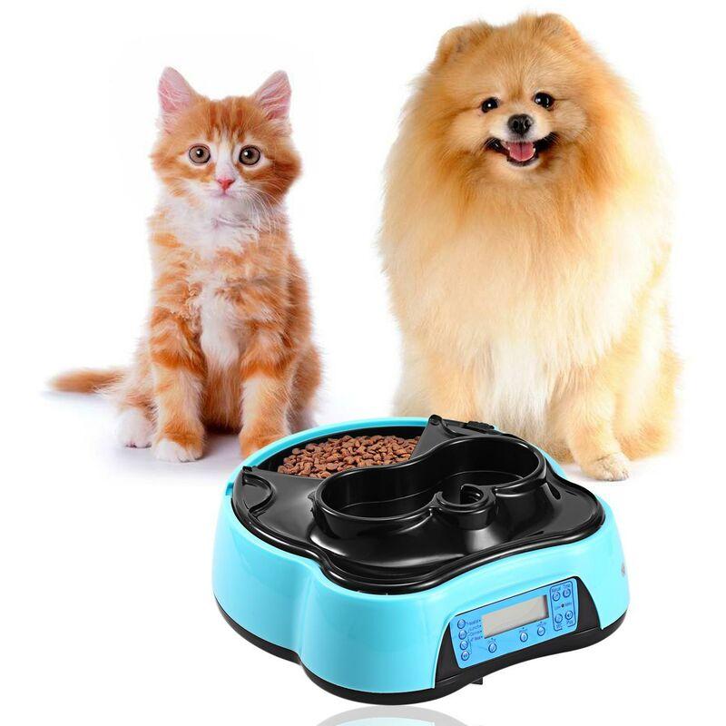 Distributeur d'aliments automatique pour animaux de compagnie Bleu - bleu