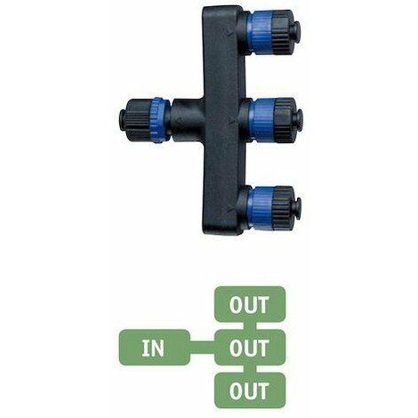 Distributeur de câble intelligent Plug & Shine - 150W max - 24V - 3 raccords - Noir