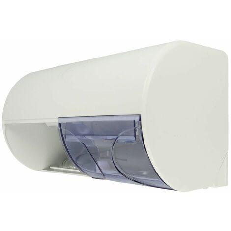 Distributeur de papier de toilette ABS blanc, Air-Wolf, 2 rouleaux