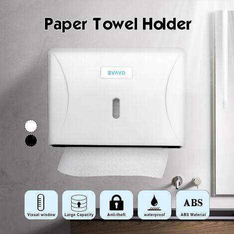 Distributeur de papier toilette Porte-boîte à mouchoirs Accessoires de salle de bain fixés au mur noir noir noir