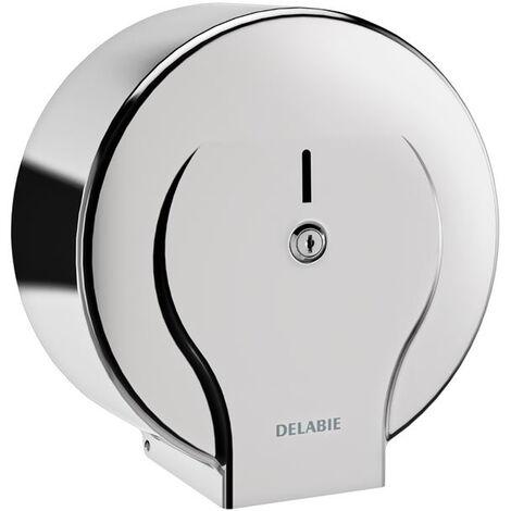 Distributeur de papier WC DELABIE Inox 304 brillant pour bobine 400 m - 2911