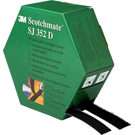 Distributeur de ruban de type Velcro Noir 2 x 5 m (Par 4)