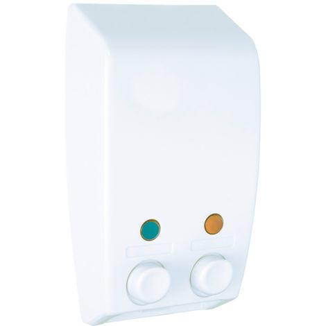 Distributeur de savon à 2 compartiments Varese blanc WENKO