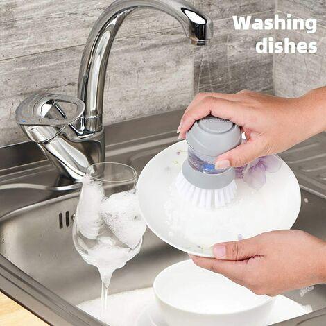 Distributeur de savon Brosse à paume 2020 Brosse de cuisine pour casserole Casserole Nettoyage d'évier Mini brosse à récurer avec SoutienVaisselle Brosse à récurer Brosse à récurer avec évier à savon Brosses pour cuisine 1pc