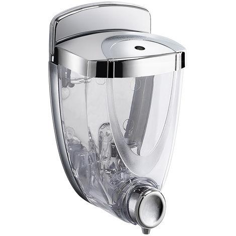 Distributeur de savon/désinfectant Gedy Torpedo - Manuel - 300ml - anti vandalisme - (code 2093-13)